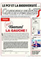 Journal CommunisteS n°654 du 18 octobre 2016